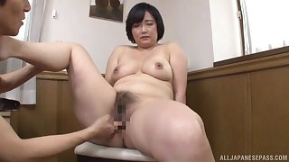 Japanese mature factory young inches close by both their way hairy holes