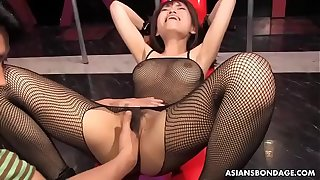 Busty Yui Shimizu got sex toys up her tight ass hole